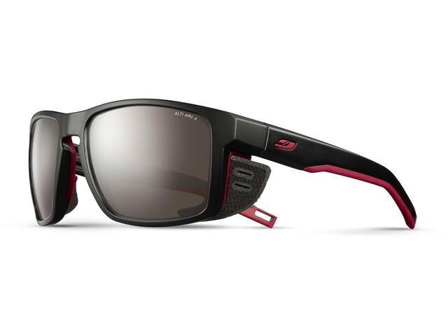 Julbo Shield Alti Arc 4 Sunglasses black/red/red-brown flash silver